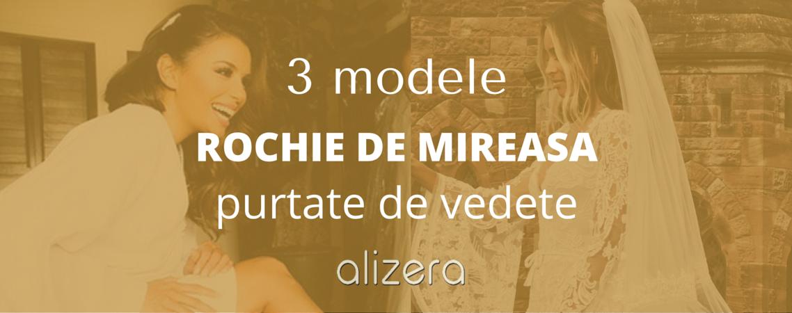 3 modele rochie de mireasa