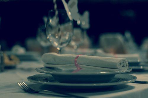 Restaurant nunta setup - masa