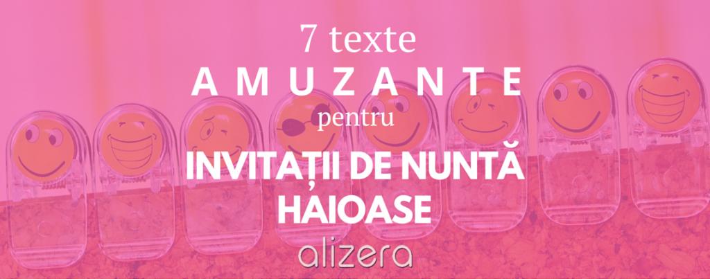Invitații De Nuntă 7 Texte Amuzante Pentru Invitatii Haioase Alizera