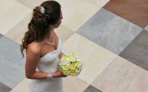 culoare buchet nunta galben
