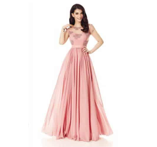 Rochie lunga roz Domnisoara de Onoare - Miss Grey