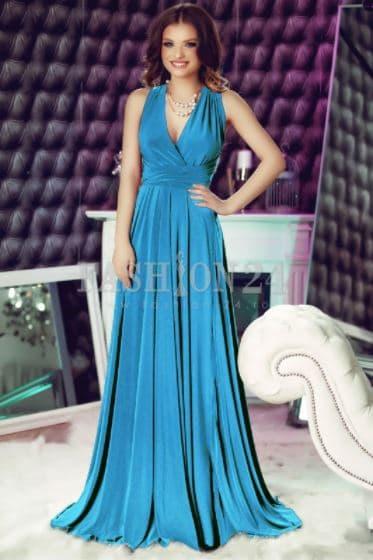 Rochie bleu domnisoara onoare - Fashion 24
