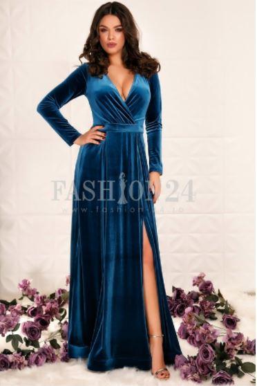 Rochie catifea domnisoara onoare - Fashion 24