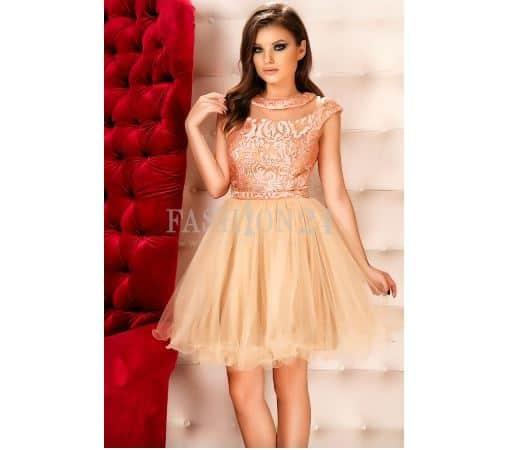 Rochie nunta Baby Doll crem - Fashion Days