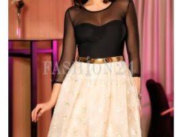 Rochie nunta Baby Doll negru sus si crem jos - Fashion Days