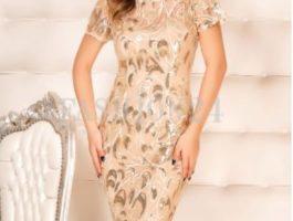 Rochie nunta crem scurta - Fashion 24