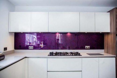 Geam securizat culoare violet