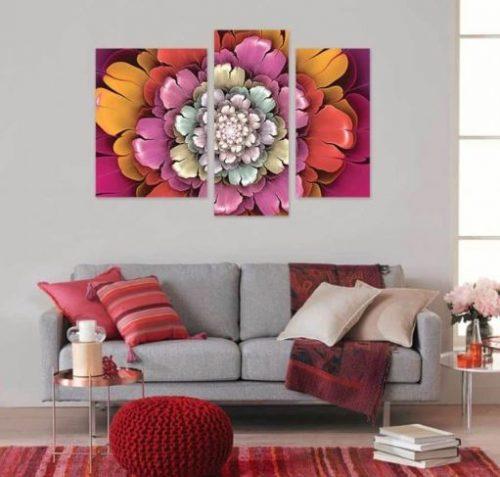 Tablou Multicanvas Floral