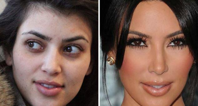Kim Kardashian-transformare totală după operații estetice și machiaj