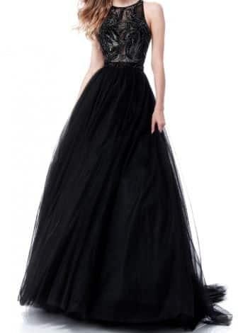 Rochie de seară elegantă pentru nașă tânără